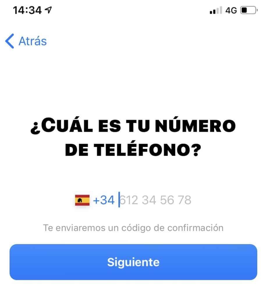 Bunq, teléfono