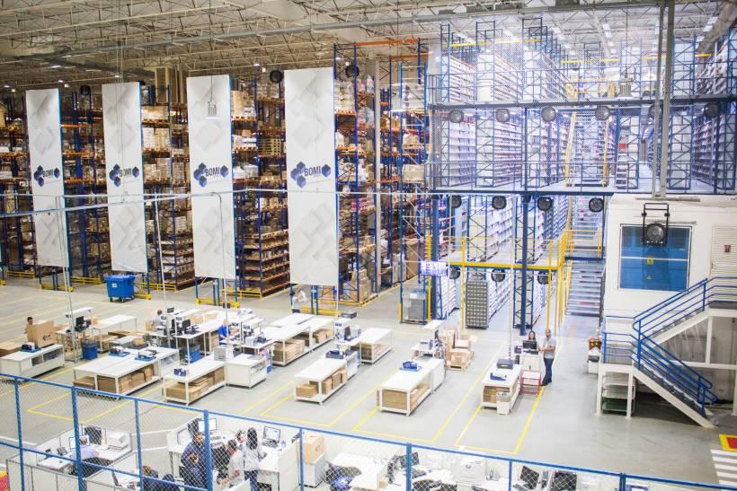 Vista de como podría ser un operador logístico especializado en Ecommerce
