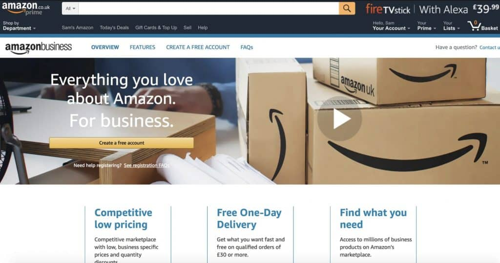 Versión de UK de Amazon Business