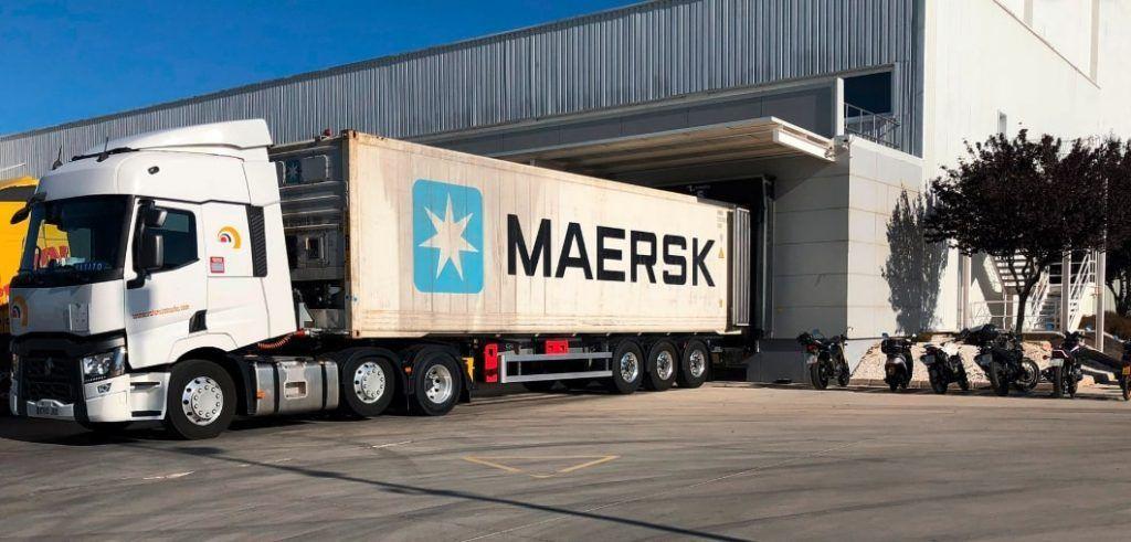 Carga de Contenedor de la Maersk