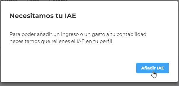Nos solicita que añadamos la configuración de IAE