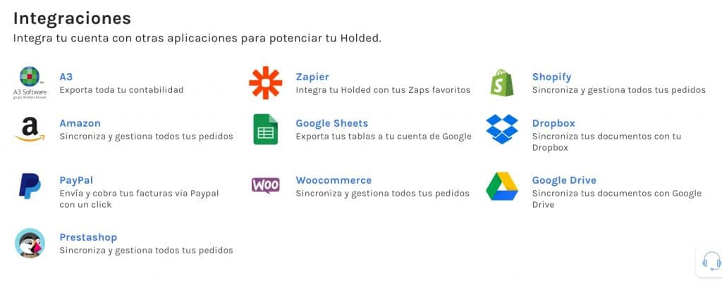 Integraciones de Holded