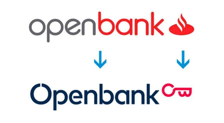 Evolución de los logos de OpenBank