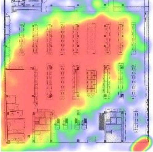 Mapa de calor de un Almacén