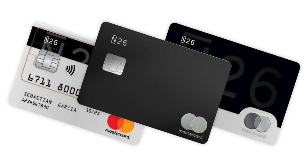 Diferentes tipos de tarjetas del Banco N26