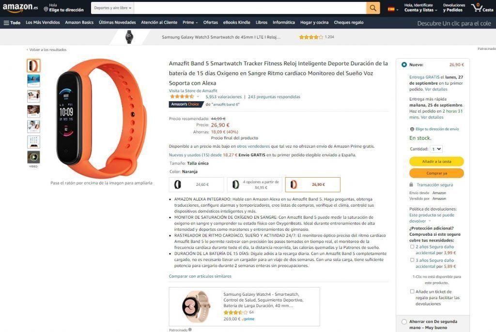 Hay productos vendidos por Amazon pero la mayoría son vendidos por vendedores externos