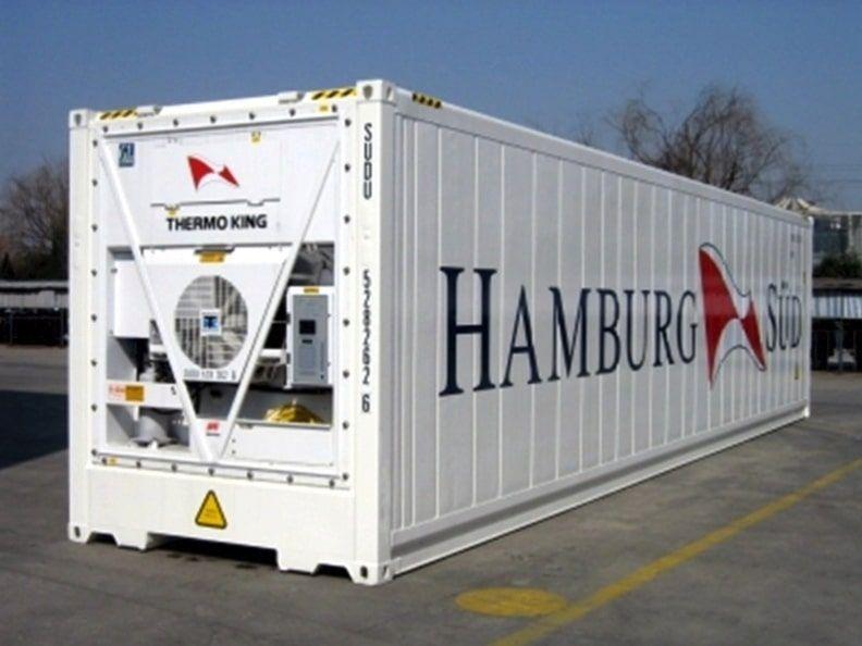 Contenedor Reefer de la Hamburg Sud con máquina Thermo King